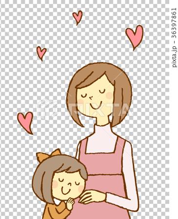 妊婦と女の子 36397861