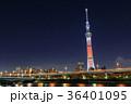 東京スカイツリー 夜景 ライトアップの写真 36401095