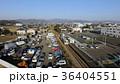 空撮 甘木鉄道レールバス 福岡県大刀洗町 36404551