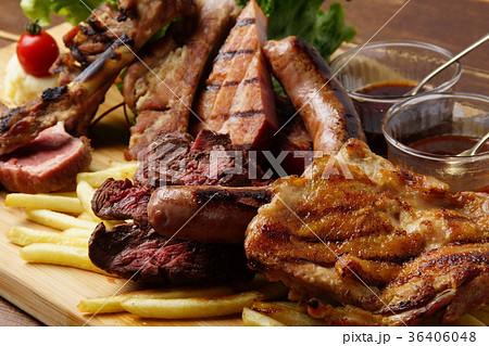 肉盛合せの写真素材 [36406048] - PIXTA