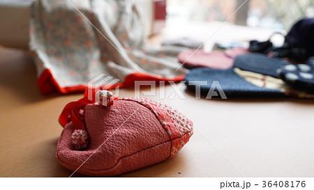 ハンドメイド‐巾着-和-ハギレ-余り-布-ちりめん-パッチワーク 36408176