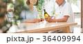 シニア 夫婦 乾杯 ワイン カップル イメージ 36409994