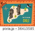 Poster with statues of Easter island 36413585