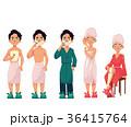 剃る 人々 人物のイラスト 36415764