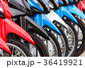 row of new motorbikes for sale 36419921