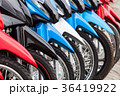 row of new motorbikes for sale 36419922