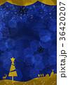 クリスマスカード クリスマス トナカイのイラスト 36420207