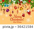クリスマス xマス 花輪のイラスト 36421584