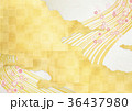 金箔 背景素材 和柄のイラスト 36437980