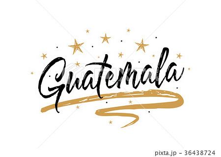 guatemala name country word text card bannerのイラスト素材