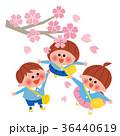 桜と園児たち 36440619