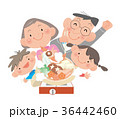 鍋 家族 笑顔のイラスト 36442460