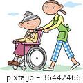 人物 介護 女性のイラスト 36442466