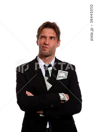 photo of man in business suit with money inの写真素材 36443050 pixta