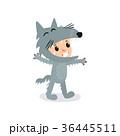 コスチューム 狼 グレーのイラスト 36445511