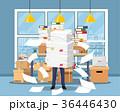 ビジネス 職業 書類のイラスト 36446430