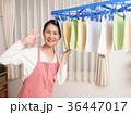 人物 女性 洗濯物の写真 36447017