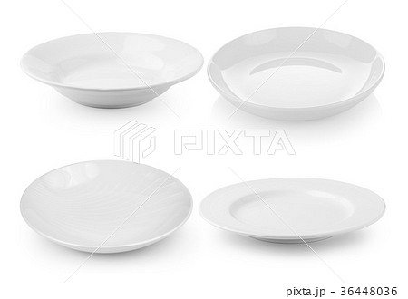 white plate isolated on white backgroundの写真素材 [36448036] - PIXTA