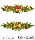 クリスマス 蝶結び モミのイラスト 36448103