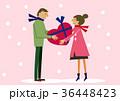 バレンタイン プレゼント 告白のイラスト 36448423
