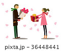 ギフト プレゼント カップルのイラスト 36448441