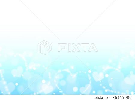 ブルーキラキラハートイメージ背景 36455986