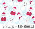 クリスマス 雪だるま サンタのイラスト 36460018