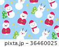 クリスマス 雪だるま サンタクロースのイラスト 36460025