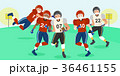 cartoon american football players 36461155