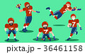cartoon american football players 36461158