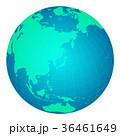 地図 世界地図 球体のイラスト 36461649