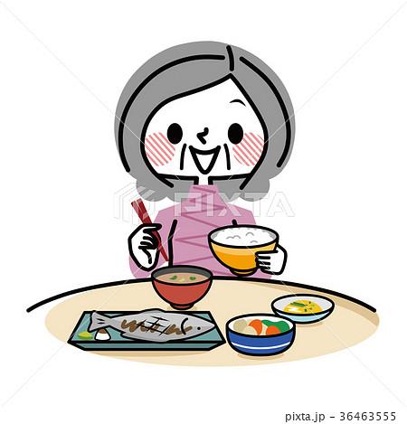 食事 和食 シニア女性 36463555