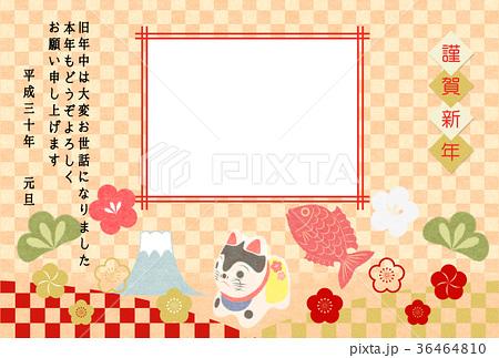年賀色市松和紙狛犬張子 36464810