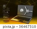 PC ノートパソコン ラップトップのイラスト 36467310