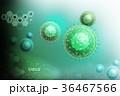 ウィルス ウイルス 病原菌のイラスト 36467566