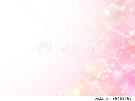 ピンクキラキラハートイメージ背景 36468765