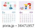 カレンダー 5月 6月のイラスト 36471957