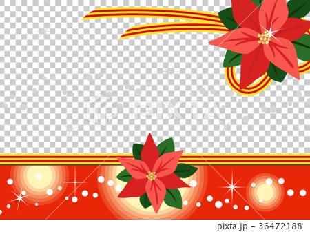 矢量圖 一品紅 聖誕季節 36472188