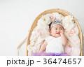おもちゃの王冠をかぶる赤ちゃん(笑顔) 36474657