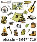 キャンプ 収容所 テントのイラスト 36474719