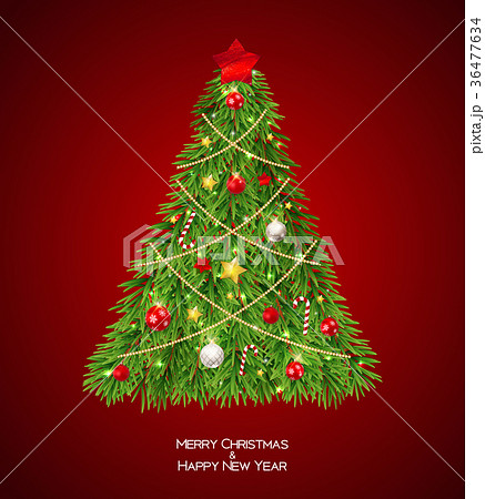 Merry Christmas and New Year Background with 36477634