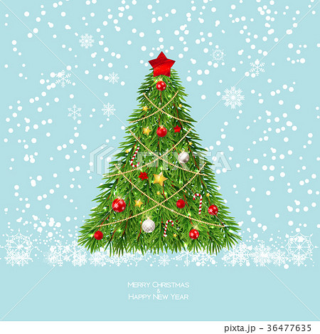 Merry Christmas and New Year Background with 36477635