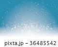 冬のイメージ背景画像|水色 イルミネーションと雪の結晶|クリスマス Christmas image 36485542