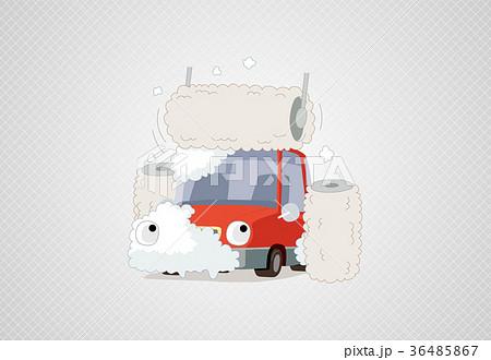 Washing a car - vector 36485867