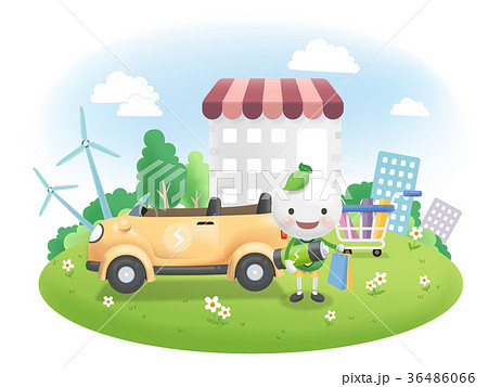 Electric Vehicle Promotion Vector Illustration 36486066