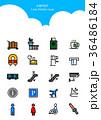 Set of Icon - Symbolizing summer and autumn 002 36486184