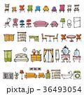 家具 かわいい ベクターのイラスト 36493054