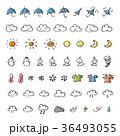 天気 手書き 天気予報のイラスト 36493055