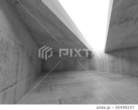 3d empty concrete room interior 36499247