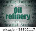 Industry concept: Oil Refinery on Digital Data 36502117